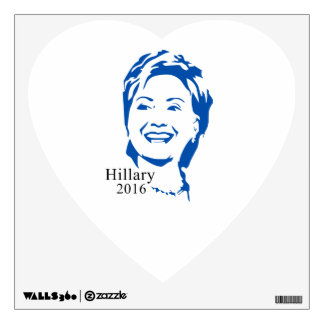 Hillary 2016 Vote Hillary Clinton for President Wall Sticker