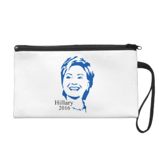 Hillary 2016 Vote Hillary Clinton for President Wristlet Clutches