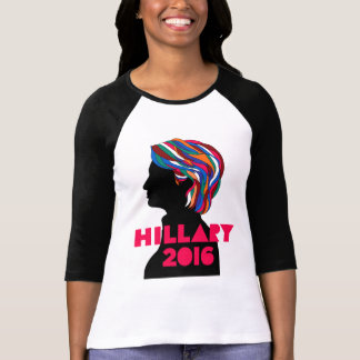 Hillary 2016: Women 3/4 Sleeve Raglan T-shirt