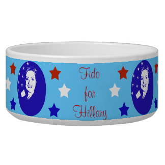 Hillary 2016 Your Pet For Hillary Dog Water Bowls