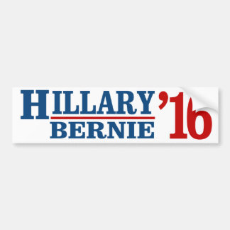 Hillary and Bernie 2016 - Liberal Humor -.png Bumper Sticker