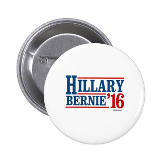 Hillary and Bernie in 2016 Pinback Button