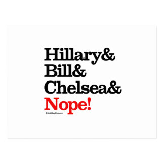 Hillary and Bill and Chelsea and Nope Post Card
