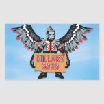 HILLARY AND THE ARMY OF FLYING MONKEYS RECTANGULAR STICKER