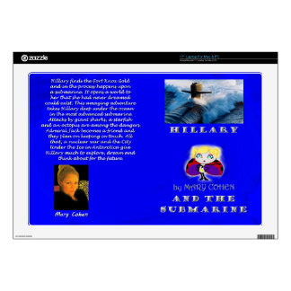 """Hillary and the Submarine Decal For 17"""" Laptop"""