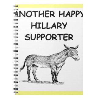 hillary anti Clinton Libros De Apuntes