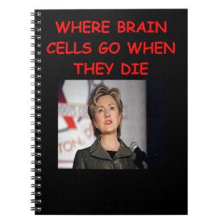 hillary anti Clinton Libro De Apuntes