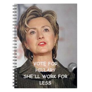 hillary anti Clinton Libro De Apuntes Con Espiral