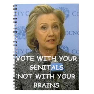 hillary anti Clinton Libros De Apuntes Con Espiral
