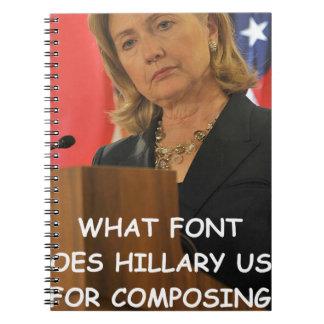 hillary anti Clinton Libreta