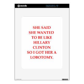 hillary anti Clinton Skin Para El iPad