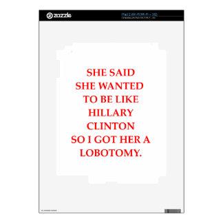 hillary anti Clinton Skin Para El iPad 2