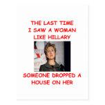 hillary anti Clinton Tarjeta Postal