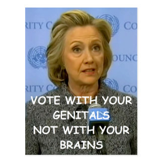 hillary anti Clinton Tarjetas Postales