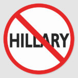 Hillary anti pegatina redonda