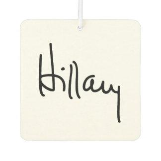 Hillary Autograph (black) -.png Car Air Freshener