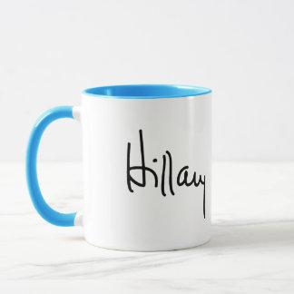 Hillary Autograph (black) -.png Mug