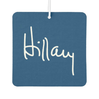 Hillary Autograph (white) -.png Air Freshener