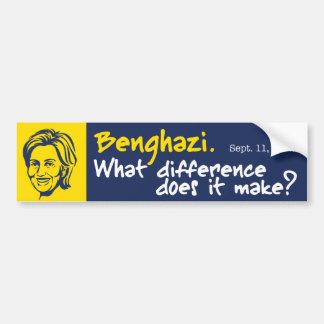Hillary/Bengasi 1 Pegatina Para Auto