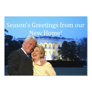 Hillary & Bill New Address Christmas card