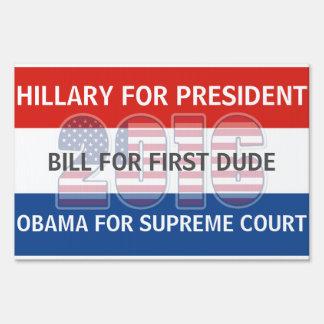 Hillary Bill y Obama para la muestra de 2016 Cartel