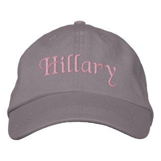 Hillary bordó gris del rosa del gorra de la gorra  gorra de béisbol bordada