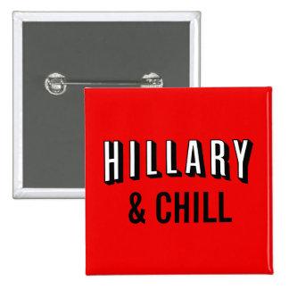 Hillary Button: Clinton for President 2016 Pinback Button