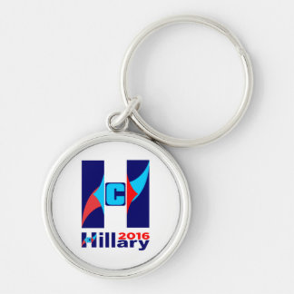 Hillary C Logo 2016 Silver-Colored Round Keychain
