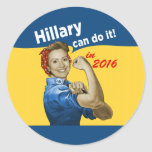 Hillary Can Do It 2016 Classic Round Sticker