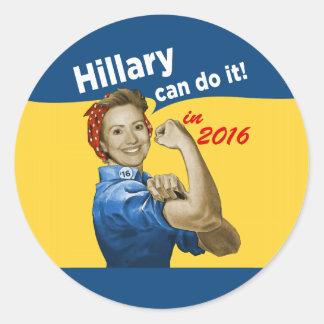 Hillary Can Do It 2016 Classic Round Sticker