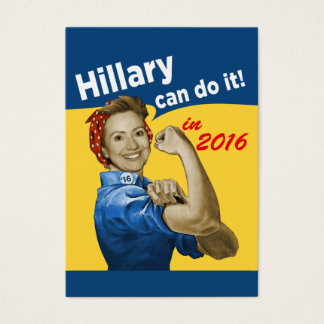 HIllary Can Do It Business Card