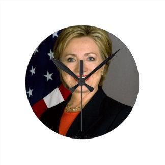 Hillary Clinton2 Round Clock