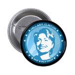 hillary clinton 08. blue rays. button