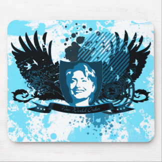 hillary clinton 08. new world order. mouse pad