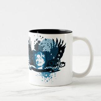 hillary clinton 08. new world order. Two-Tone coffee mug