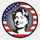 hillary Clinton 08. nosotros bandera Etiqueta