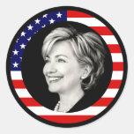 hillary Clinton 08. nosotros bandera. pintoresco Pegatina Redonda