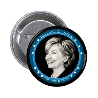 hillary clinton 08. picturesque. 2 inch round button