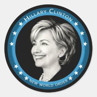 hillary clinton 08. picturesque. classic round sticker