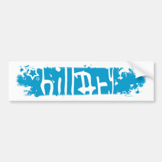 hillary clinton 08. scratched out. bumper sticker