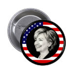 hillary clinton 08. us flag. picturesque. 2 inch round button