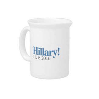 HILLARY CLINTON 11-08-2016 DRINK PITCHER
