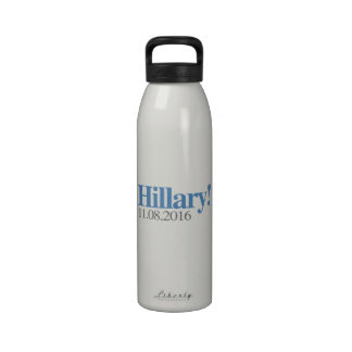 HILLARY CLINTON 11-08-2016.png Water Bottle