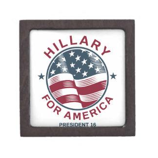 Hillary Clinton 16 Keepsake Box