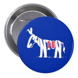 Hillary Clinton '16 Pin Redondo De 3 Pulgadas