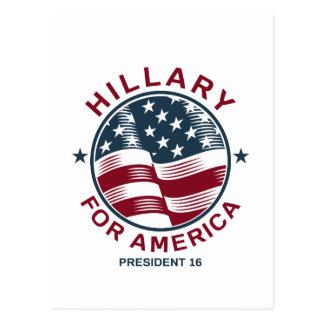 Hillary Clinton 16 Postcard