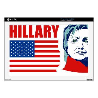 "Hillary Clinton 17"" Laptop Decal"