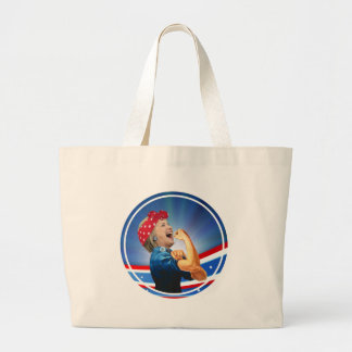 Hillary Clinton 1st Woman Presidential Nominee Large Tote Bag