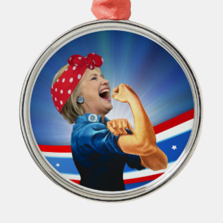 Hillary Clinton 1st Woman Presidential Nominee Metal Ornament