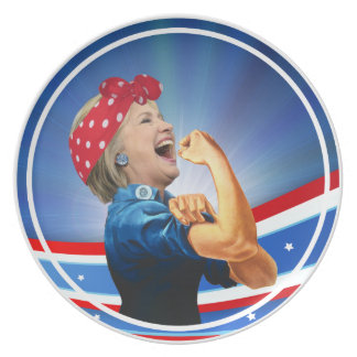 Hillary Clinton 1st Woman Presidential Nominee Plate